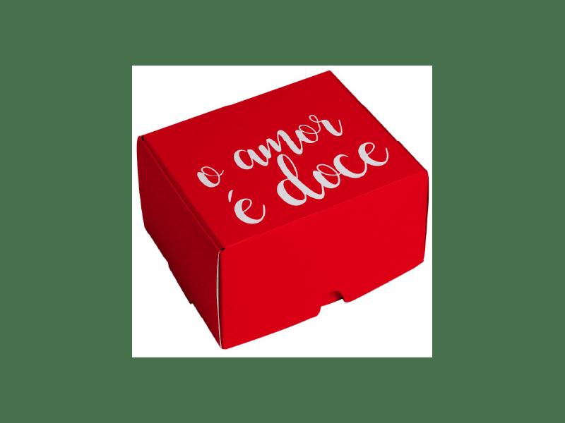 Caixa para Doces Amor é Doce 9x9x4,5 cm - Cromus