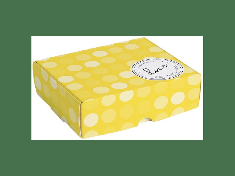 Caixa para Doces Que Seja Doce Amarelo 17x10,6x4,5 cm - Cromus