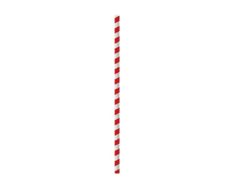 Canudo de Papel c/ 20 Unidades - Vermelho e Branco - Cromus
