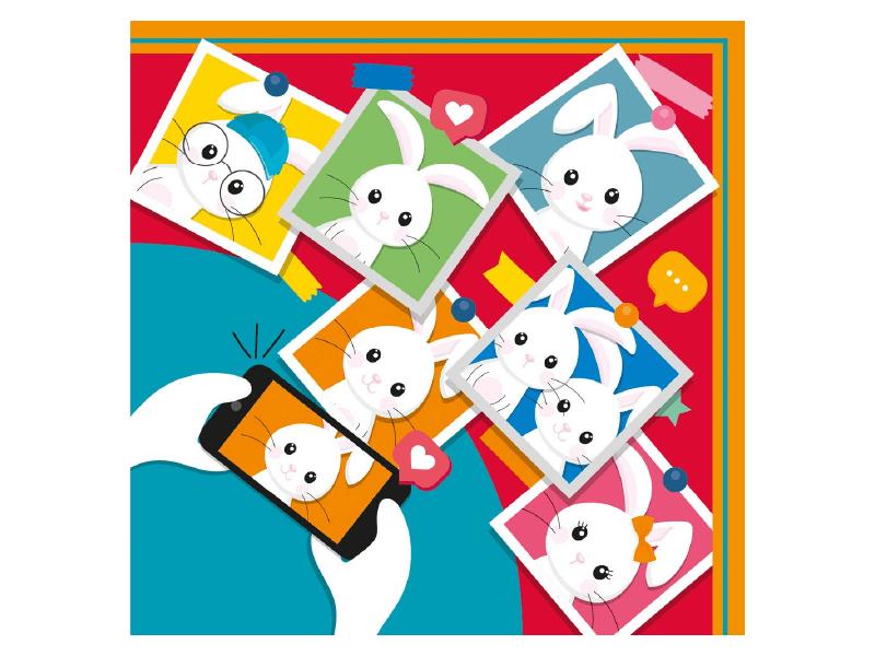 Embalagem Express para Ovo de Páscoa Colorido 35x35 cm c/ 5 unidades - Mural de Páscoa - Cromus