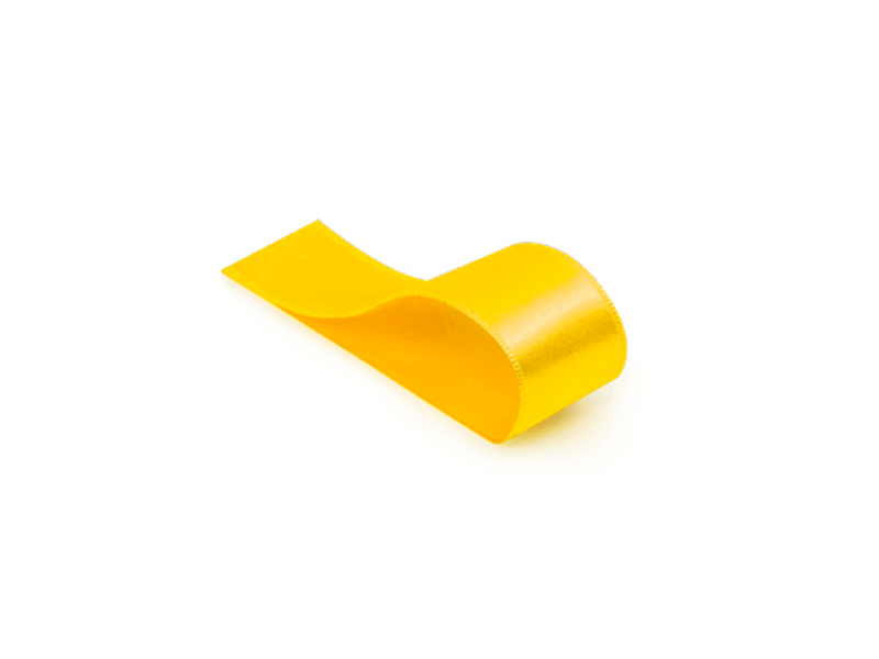 Fita de Cetim Lisa Amarela 10,5 mm – Cromus