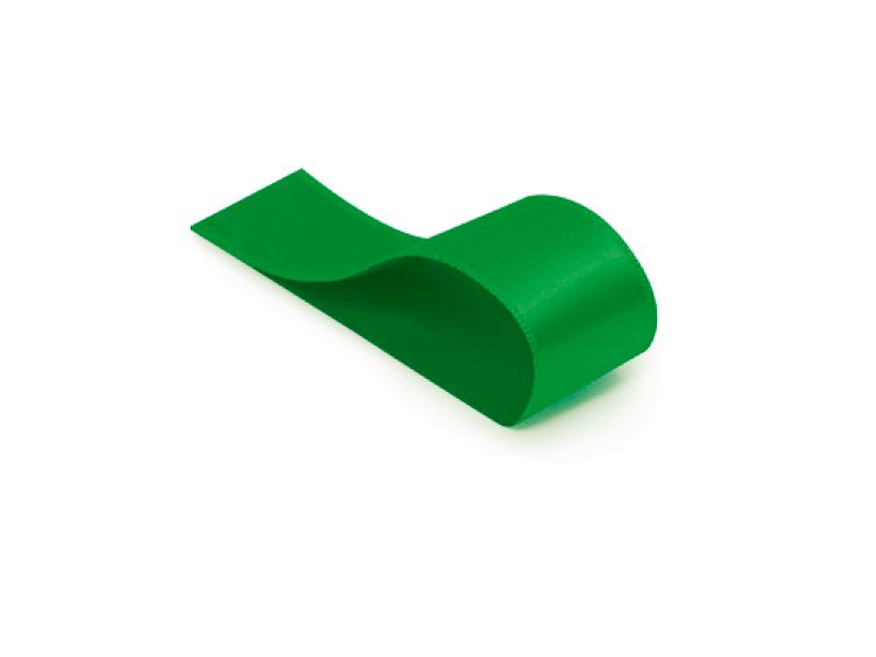Fita de Cetim Lisa Verde Bandeira 38 mm – Cromus