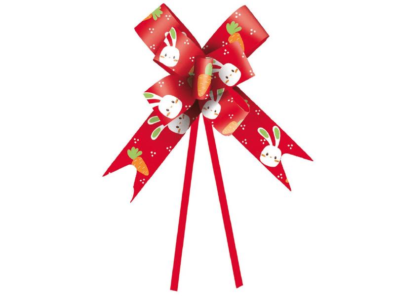 Laço Pronto Vida de Coelho 36 cm c/ 10 unidades - Vermelho - Cromus