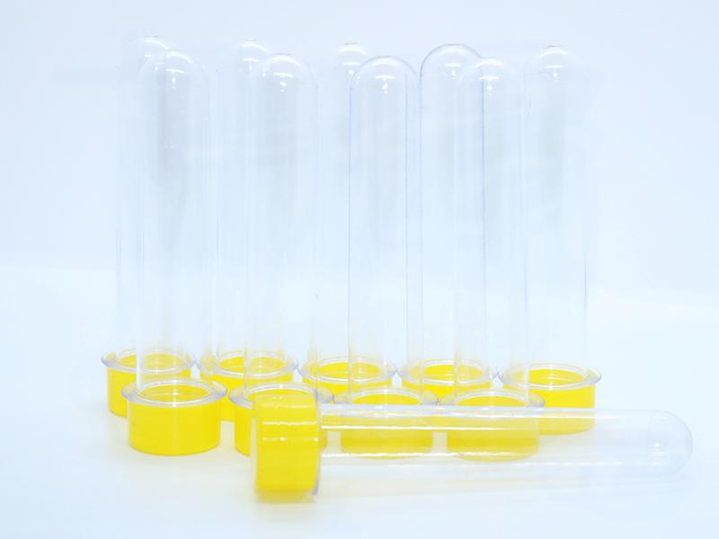 Tubetes com Tampa lisa Amarelo c/ 10 unidades – Lsc Toys