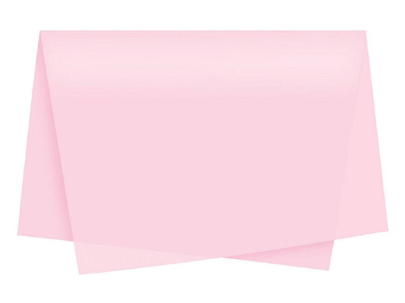 Papel de Seda Rosa c/ 3 unidades 49x69 cm - Cromus