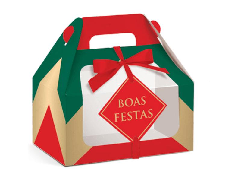 Caixa Maleta Kids c/ Visor Boas Festas M -Cromus