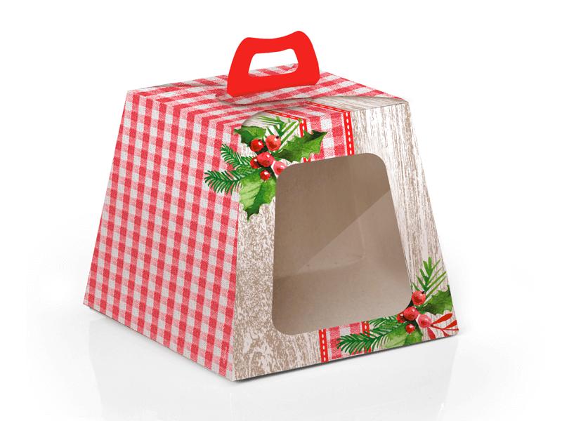 Caixa Panetone com visor – 100g- Cromus