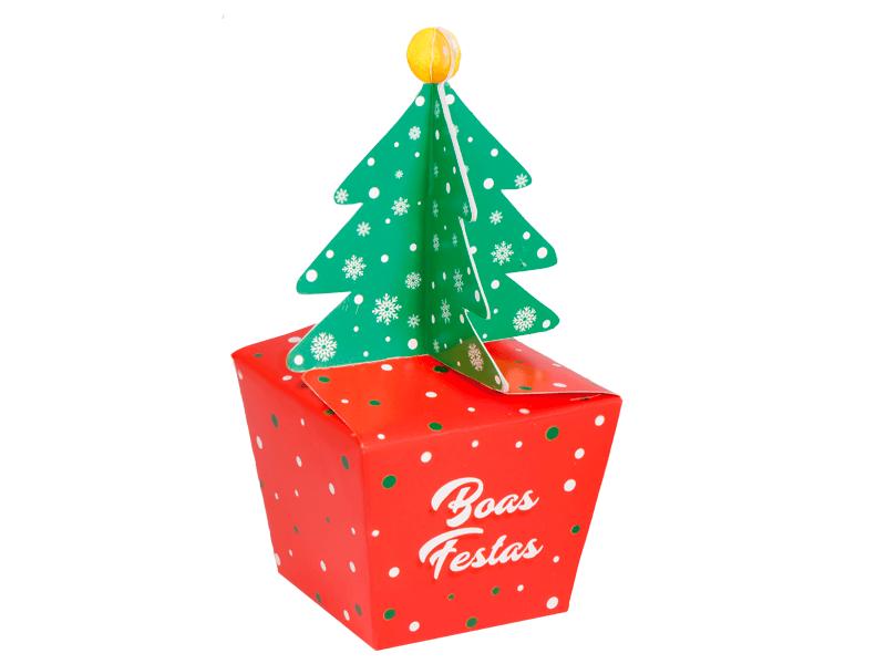 Caixa para Cupcake de Natal-Decora Doces