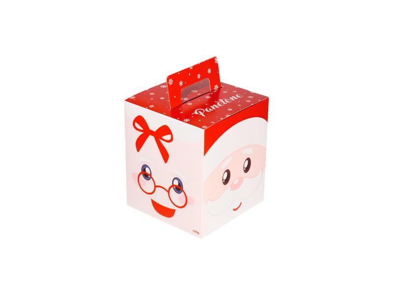 Caixa para Panetone 100 g Papai e Mamãe Noel – Decora Doces