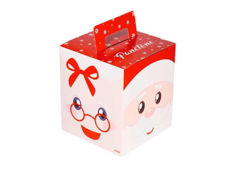 Caixa para Panetone 250 g Papai e Mamãe Noel – Decora Doces
