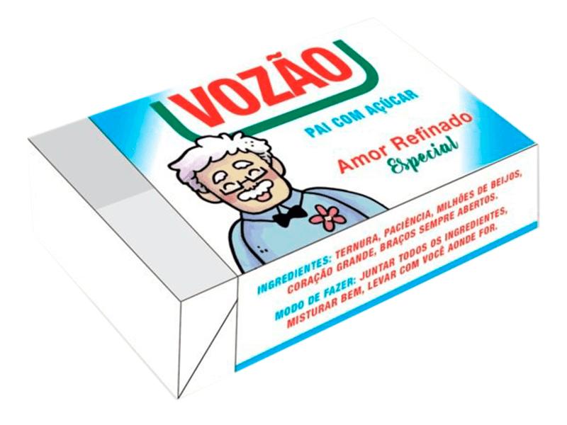 Caixa para 6 Doces Avô 12x8x3,5 cm – Vovô Açúcar
