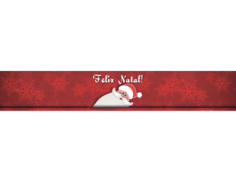 Faixa para Panetone c/ 5 unidades – Feliz Natal