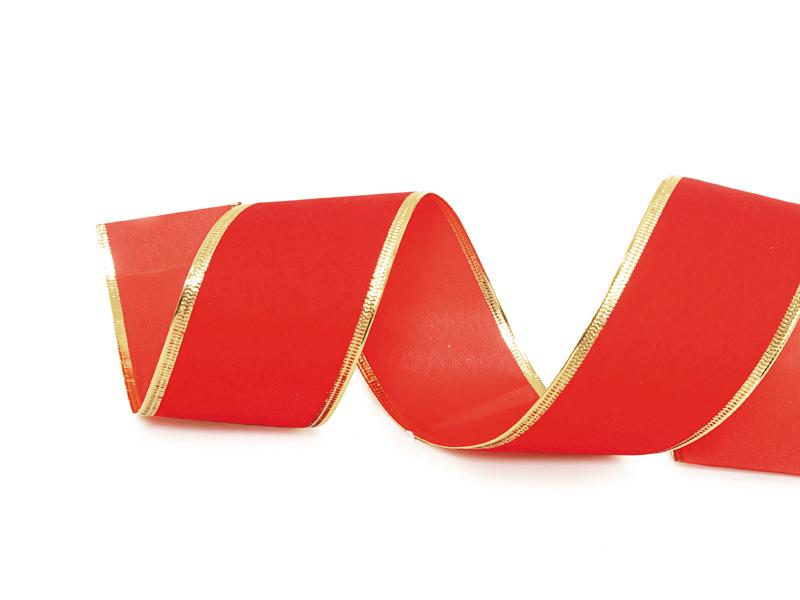 Fita Aveludada Aramada Vermelha 9,14 m – Cromus