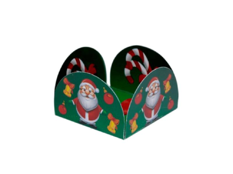 Forminha Caixeta para Doces Natal 03 com 50 unidades – Decora Doces