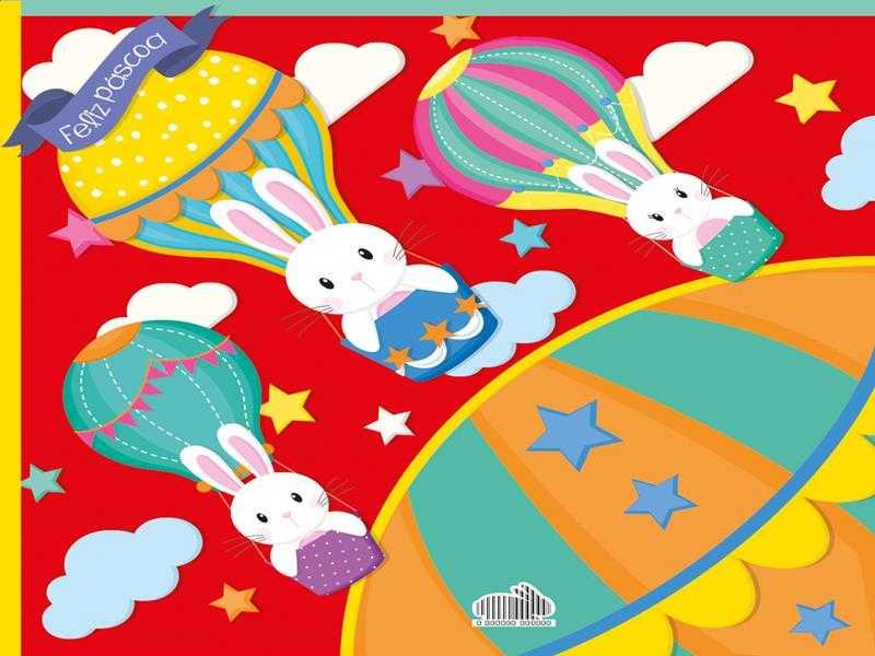 Embalagem Express para Ovo de Páscoa 32x32 cm c/5 – Balão Mágico Vermelho – Cromus