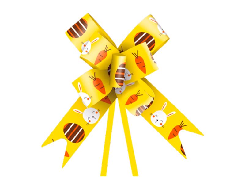 Laço Pronto Fun 2,3x38 cm c/ 10 unidades - Amarelo - Cromus