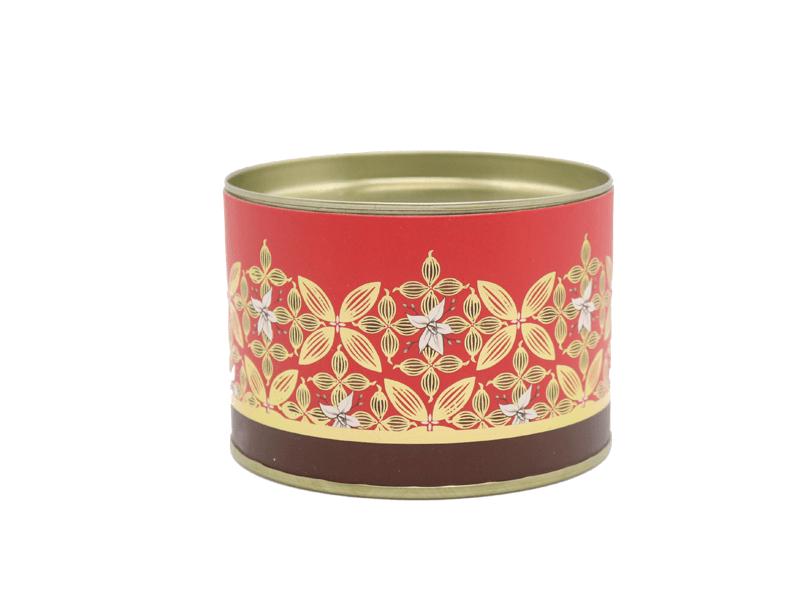 Lata Decorada Vermelha – Flor de Cacau - Cromus