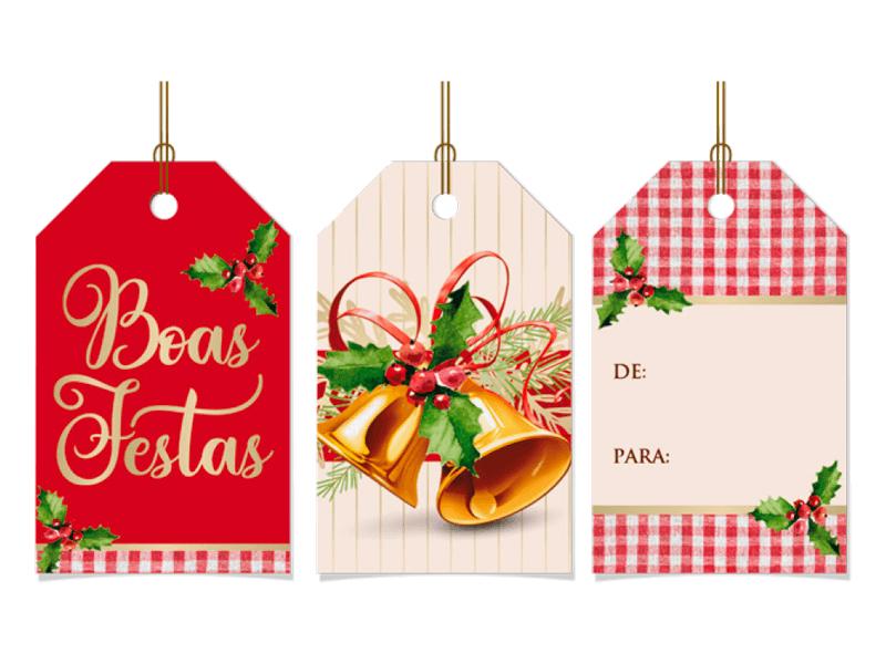 Tags de Natal Sinos Natalinos c/12 – Cromus