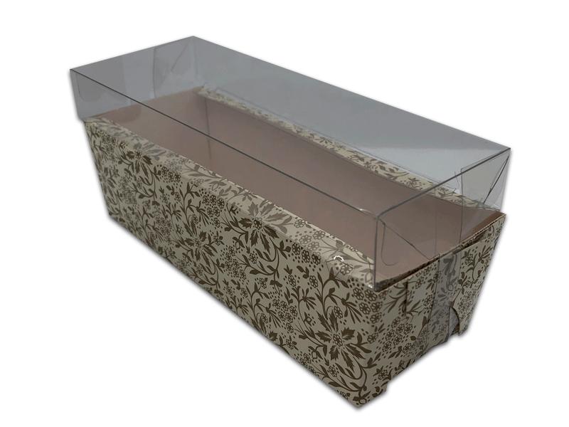 Forma para Bolo Inglês Forneável Floral Gold c/ Tampa c/ 10 unidades - Ideia Embalagens