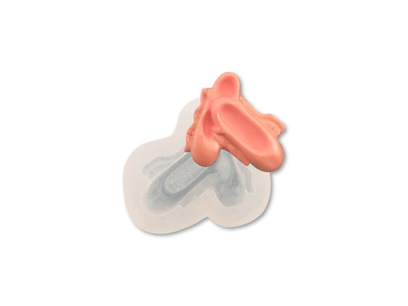 Molde de Silicone Sapatilha Pequena- Mzl