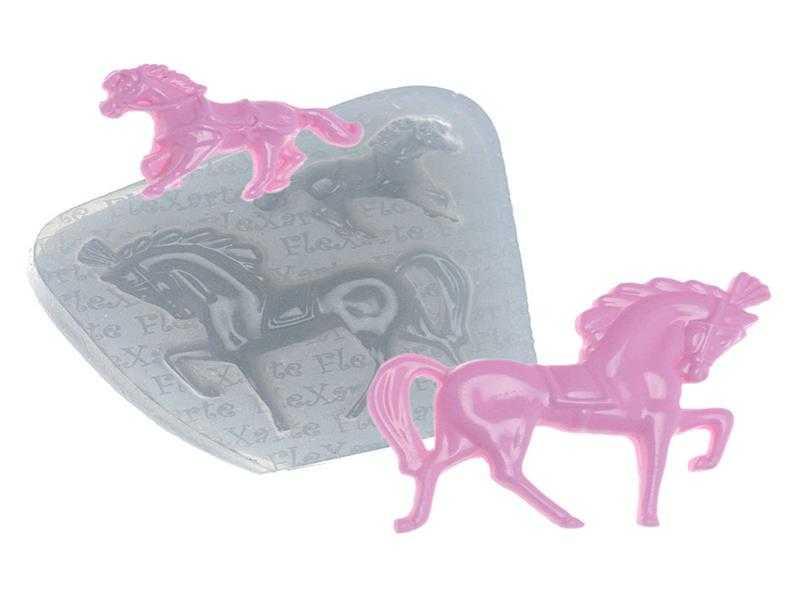 Molde de Silicone Cavalos 155 - Flexarte