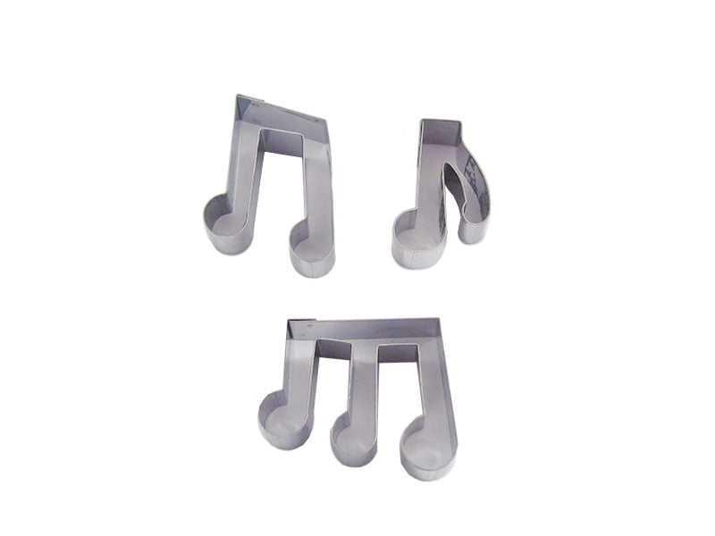 Cortador Inox Notas Musicais C/3 Caparroz