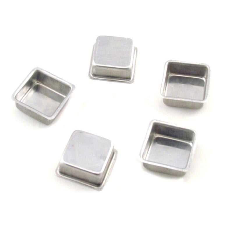 Forma para Pão de Mel Quadrada 4x2,5 cm c/12 unidades - Caparroz