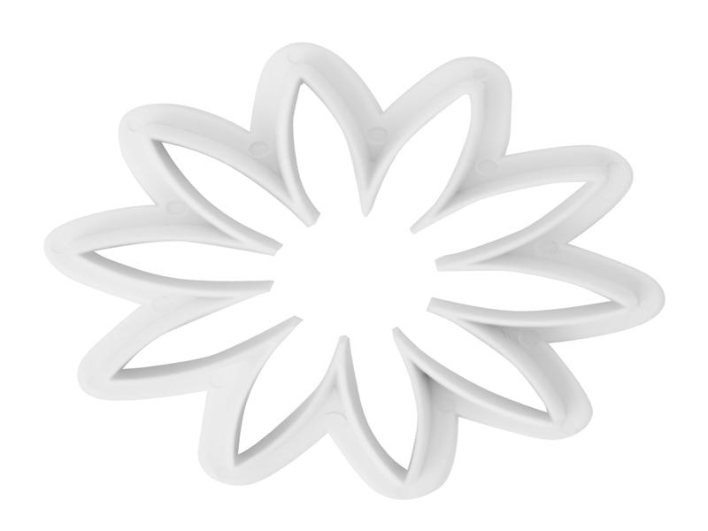 Molde de Plástico Flor Rosa C/3 UN Carol-Yangzi