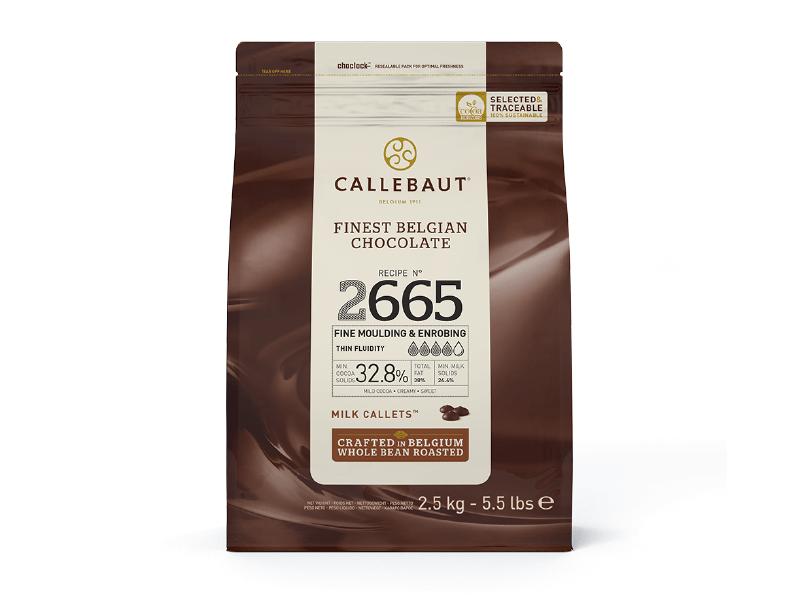 Callets Callebaut Chocolate ao Leite 32,8% 2,5kg