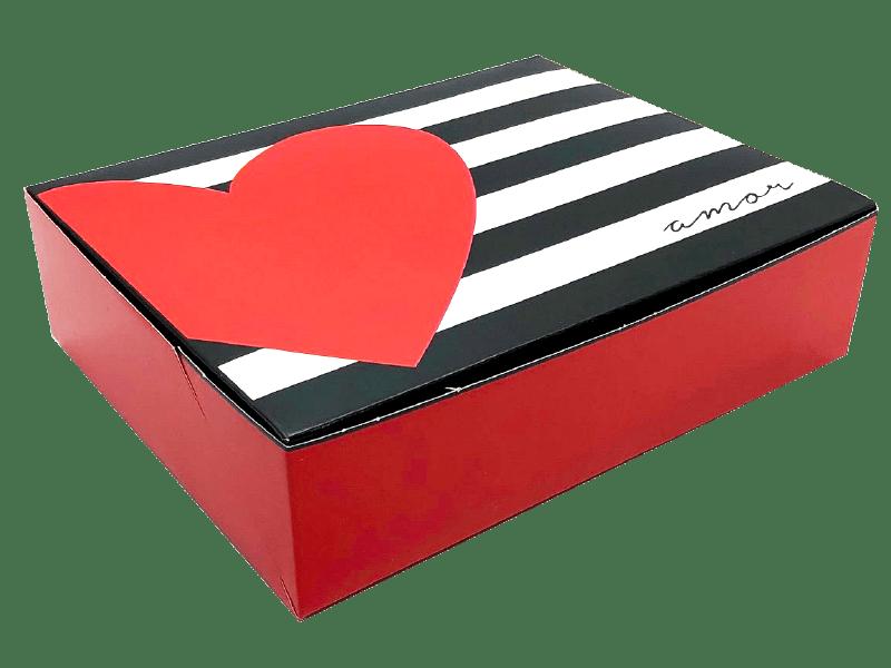 Caixa para Doces Amo Você 17x13,5x4,5 cm - Cromus