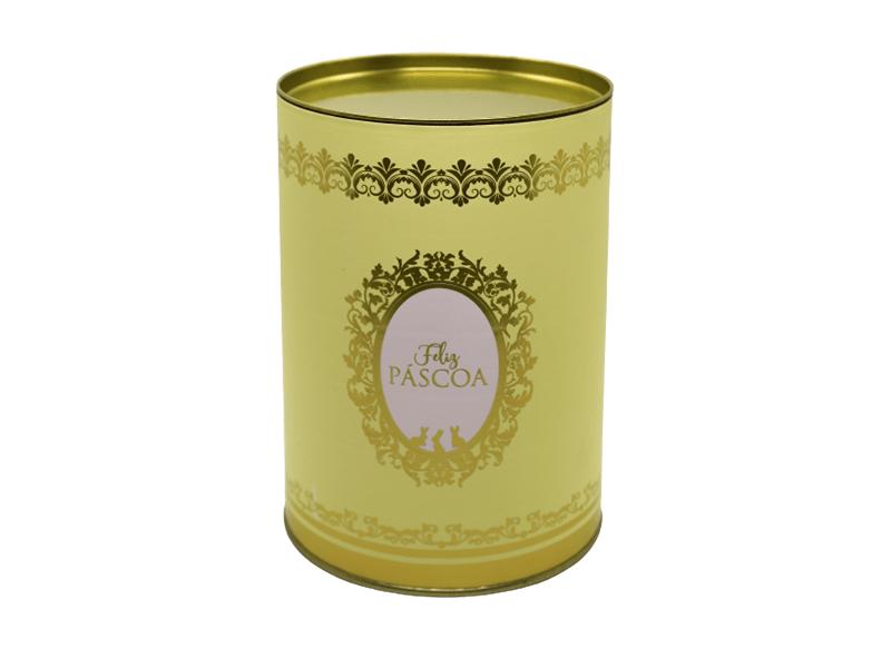 Lata Decorada Feliz Páscoa Amarela - Royalle - Cromus