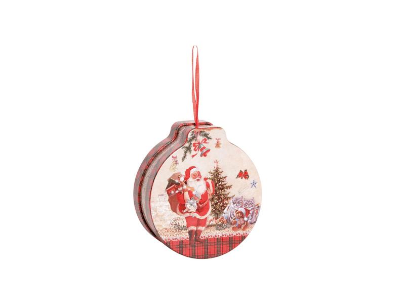 Lata Decorada Natal Papai Noel de Pendurar - Cromus