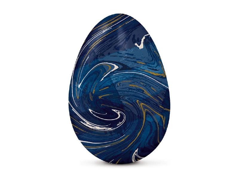 Papel Chumbo Azul Marmorizado 43,5x58,5 cm c/ 5 Folhas - Cromus