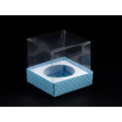 Caixa de Acetato para Mini Cupcake Póa Azul Nishimoto