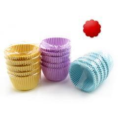 Forminha de Papel Impermeável para Cupcake Vermelha c/75 Flopel