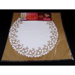 Forro de Papel Rendado Redondo Branco 420 c/6 Mago