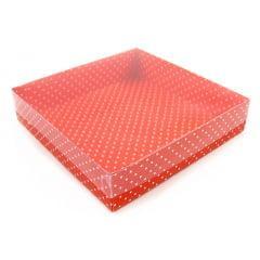 Caixa Color Acetato Poá Vermelho 15x15 Csr