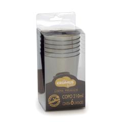 Copo Poliestileno Prata 210ml c/6 Cromus