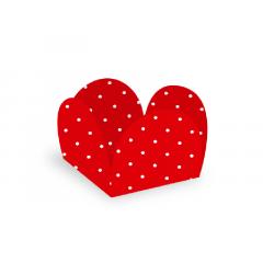 Forma para Doce Caixeta 3,5cm Poá Vermelho/Branco c/ 50 unidades - Ultrafest