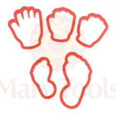 Cortador Plástico Mão e Pé c/ 5 Peças