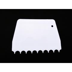 Espátula Plástica Pente Curvo 13,5cm Mary Tools