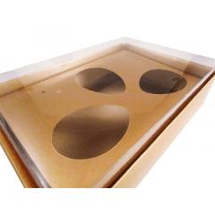 Caixa para Ovo de Páscoa de Colher 50g Ouro Fosco Csr
