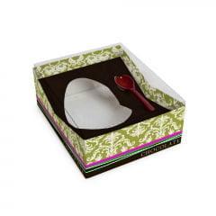 Caixa Para Meio Ovo De Colher Essência 16,5 x 13 x 6,5 cm Cromus