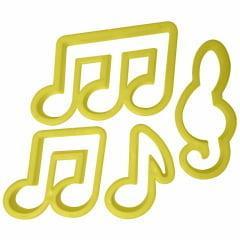 Cortador Notas Musicais c/ 4 unidades Bluestar