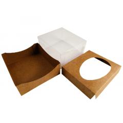 Caixa para Ovo de Páscoa de Colher 350g Kraft - Agabox