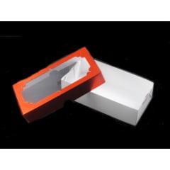 Caixa Metalizada Retangular com Visor 14x7x4 cm Csr