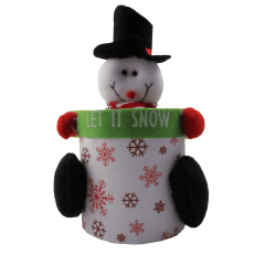 Pote de Natal Boneco de Neve Multiuso 11x12 cm Yangzi