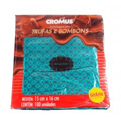 Papel para Trufa Gostosura Brigadeiro 15x16 cm c/100 Cromus