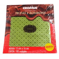 Papel para Trufa Gostosura Coco 15x16 cm c/100 Cromus