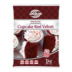 Mistura para Cupcake Red Velvet 1Kg Arcolor